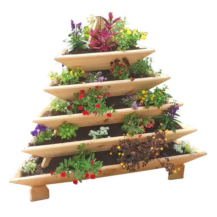 original jardinera forma pirámide