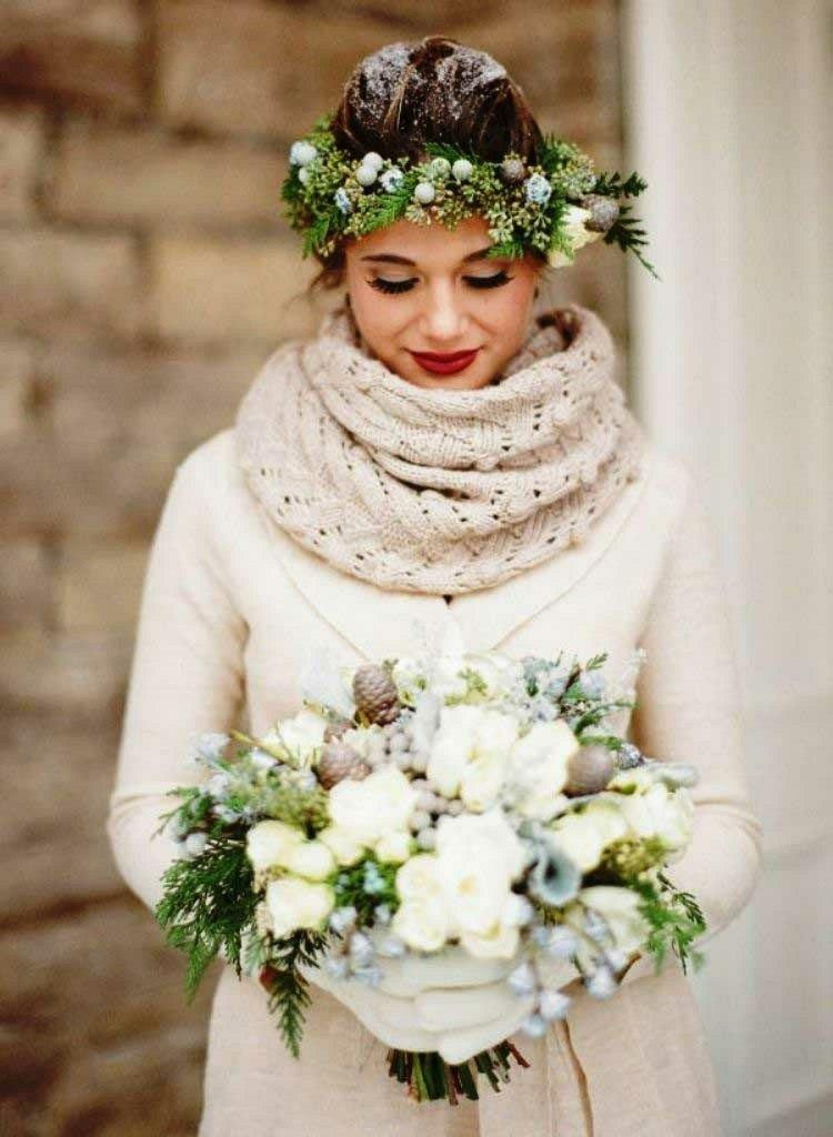 origional chaqueta bufanda lana novia