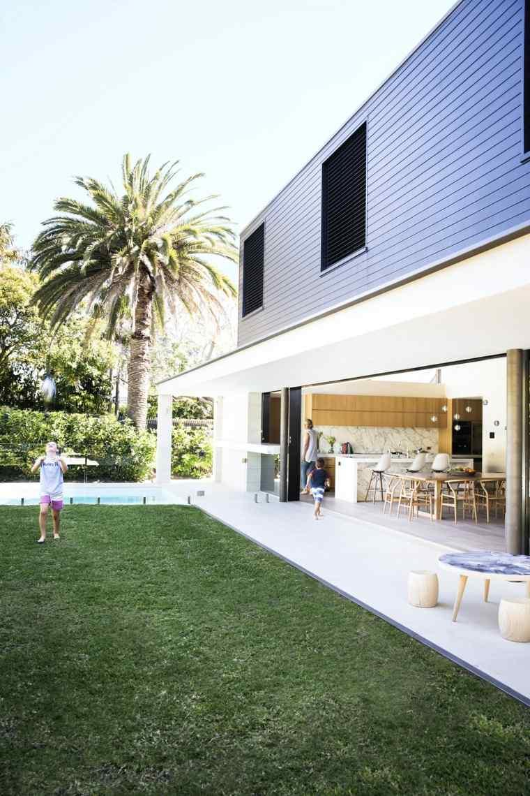 paisajes hermosos jardin cesped palmera ideas