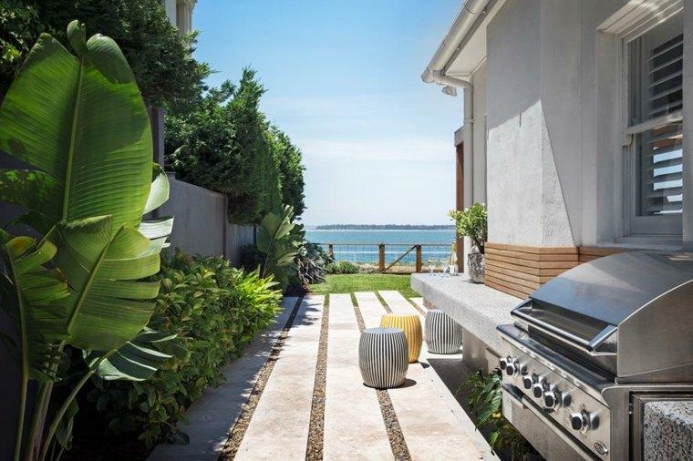 Paisajes hermosos 50 ideas de jardines grandes y peque os - Jardin con barbacoa ...