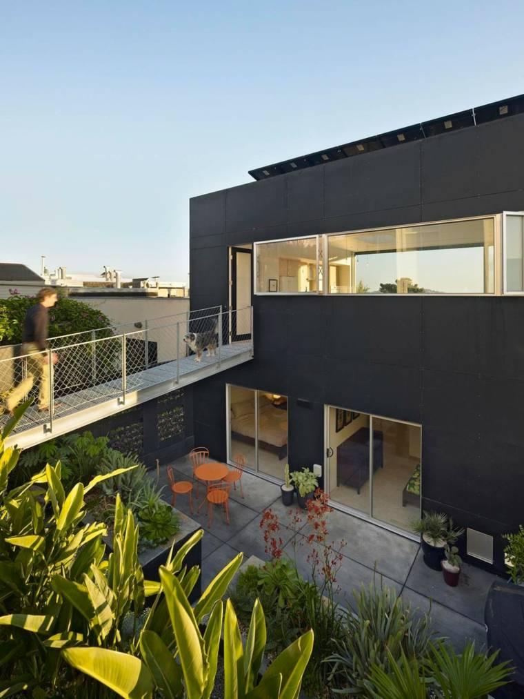 paisajes hermosos jardin pequeno casa negra ideas