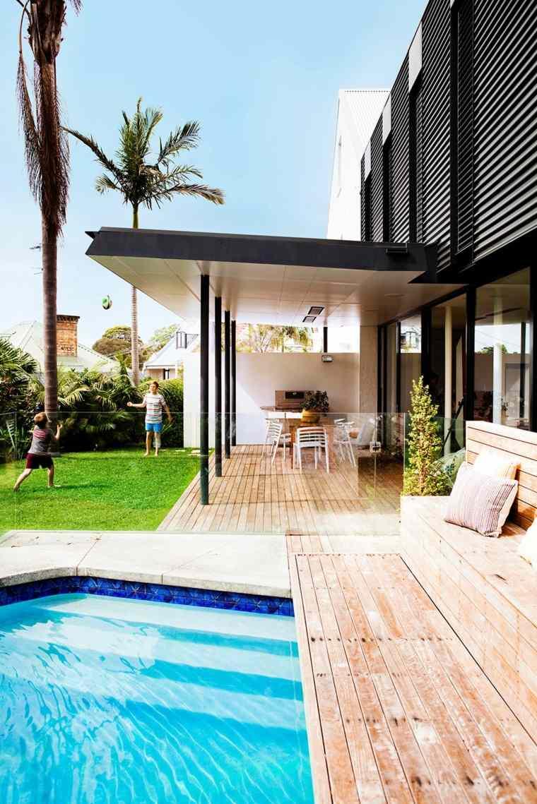 paisajes hermosos jardin pergola piscina ideas