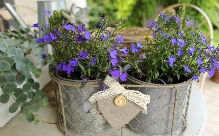 paisajismo flores primavera macetas decorativas ideas