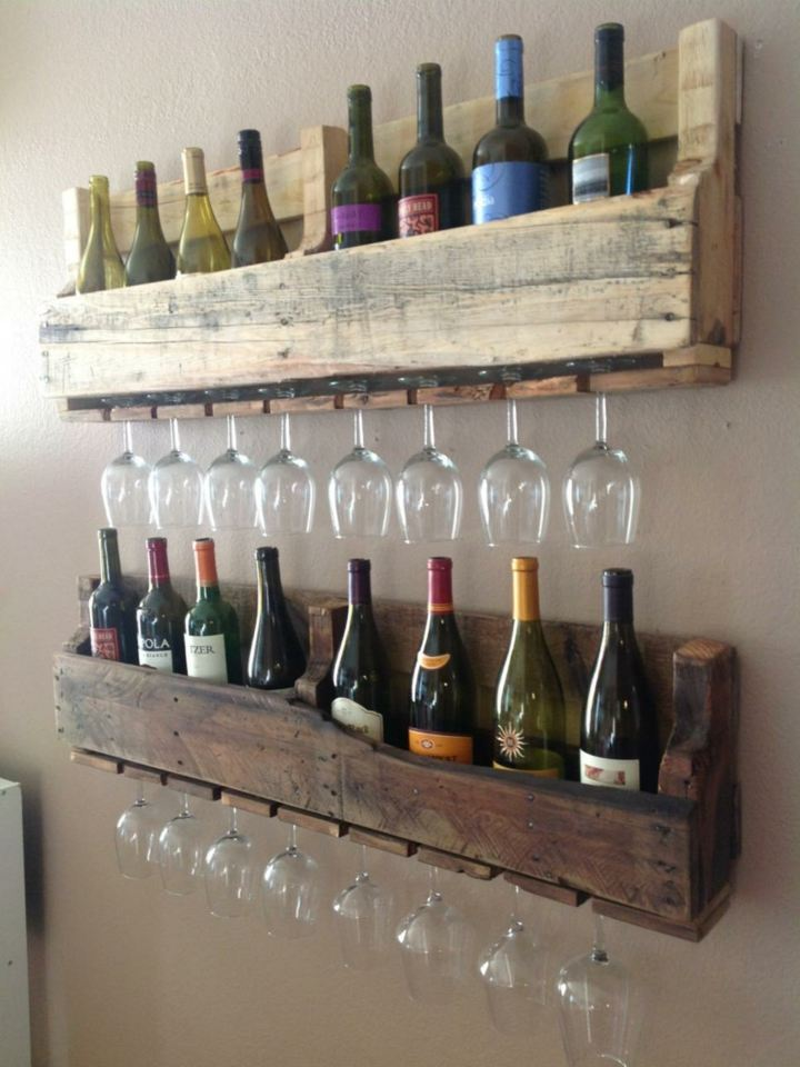 palet creatividad soluciones muebles botellas luces