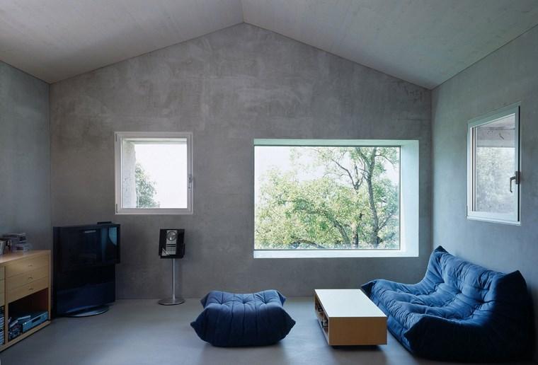pared hormigon expuesto espacio libre ideas