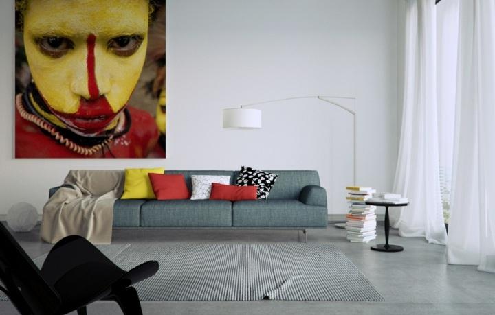 paredes arte detalles sentidos cortinas