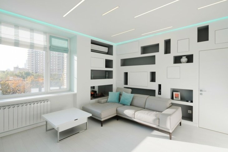 paredes blancos salones estilos casas ideas
