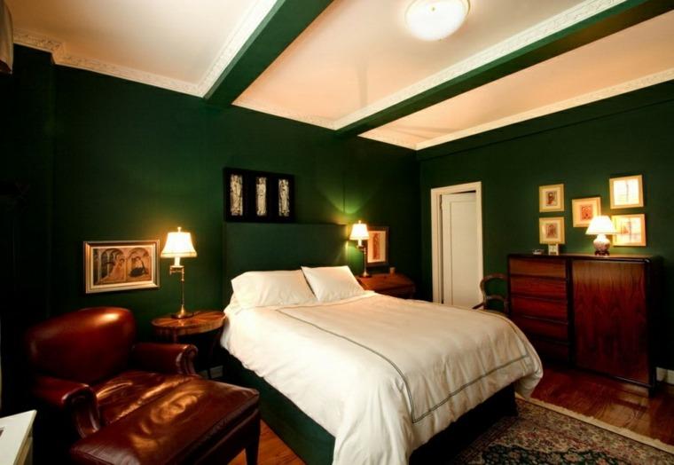 paredes doprmitorio color verde oscuro