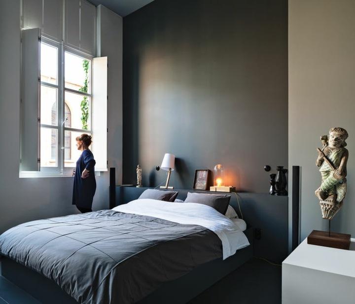 paredes grises mobiliario decorado salones detalles