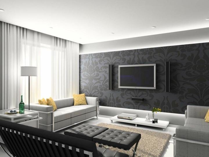 paredes grises tonos atarctivos movimientos cortinas