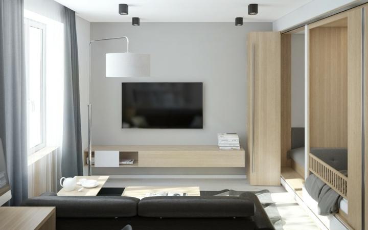 Paredes grises cincuenta propuestas para cualquier estilo - Sofa gris como pintar las paredes ...