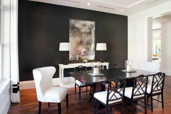 paredes grises tonos atarctivos salones comedores lamparas
