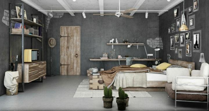 paredes grises tonos modernos plantas plantas