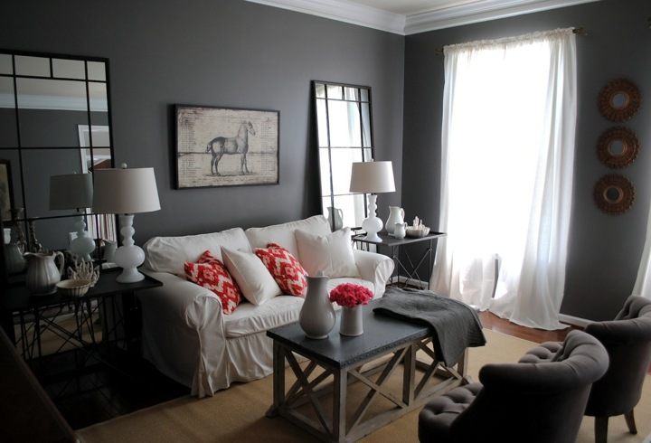 paredes grises tonos personales salas caballo