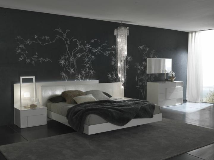paredes grises tonos pinturas muebles moderna