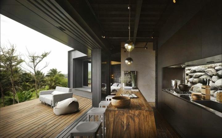 paredes muros colgantes lamparas maderas