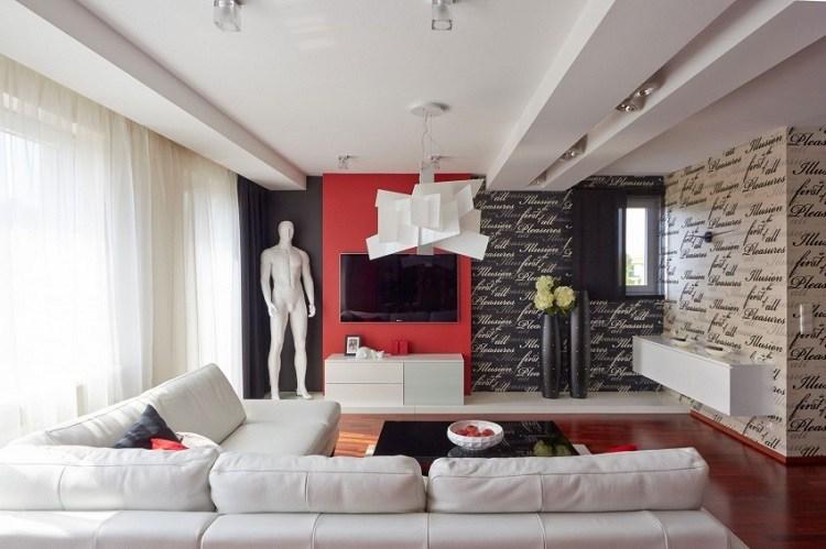 paredes preciosas negro rojo blanco escrituras ideas