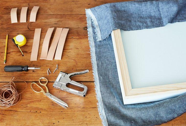 Como tapizar un cabecero cincuenta ideas originales - Tejidos para tapizar sillas ...