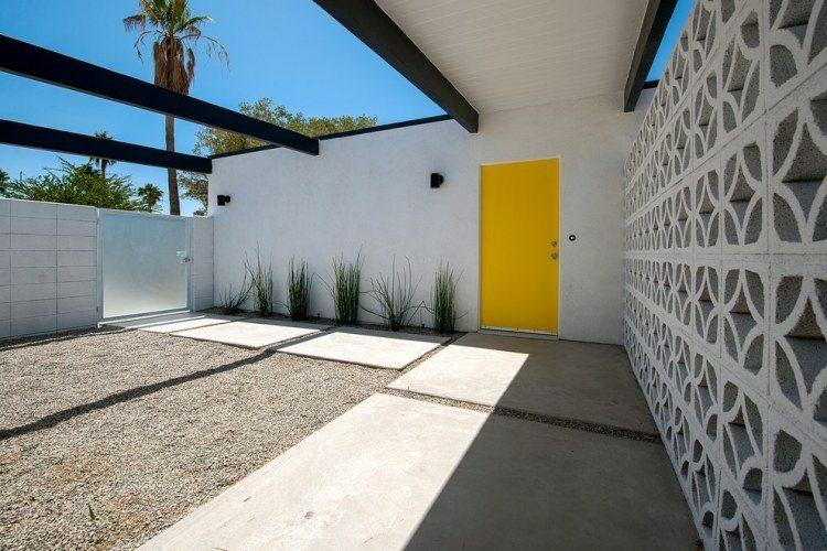 patio jardin diseño minimalista