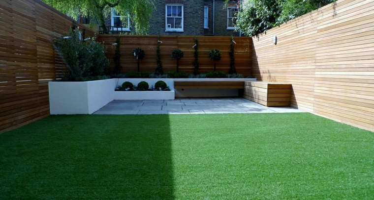 Decoracion de jardines con cesped artificial 50 ideas - Cesped artificial terrazas ...
