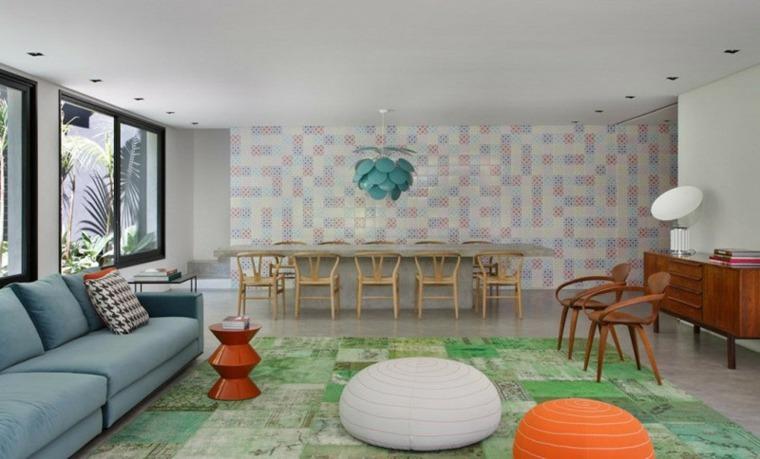 pensamientos colores diseños muebles naranja