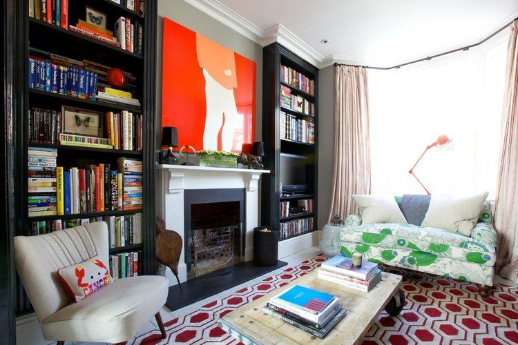 pequeña sala lecturas moderna diselño