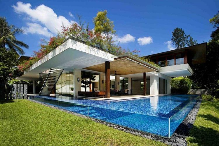 piscinas modernas paredes fibra vidrio