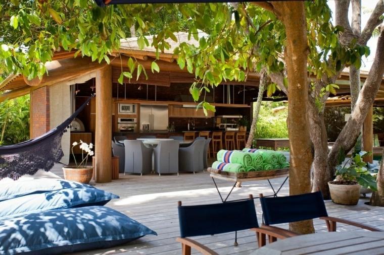 Porches jardin y terrazas cubiertas 50 dise os - Porches y jardines ...