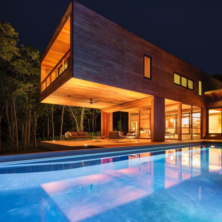porche jardin moderno piscuina