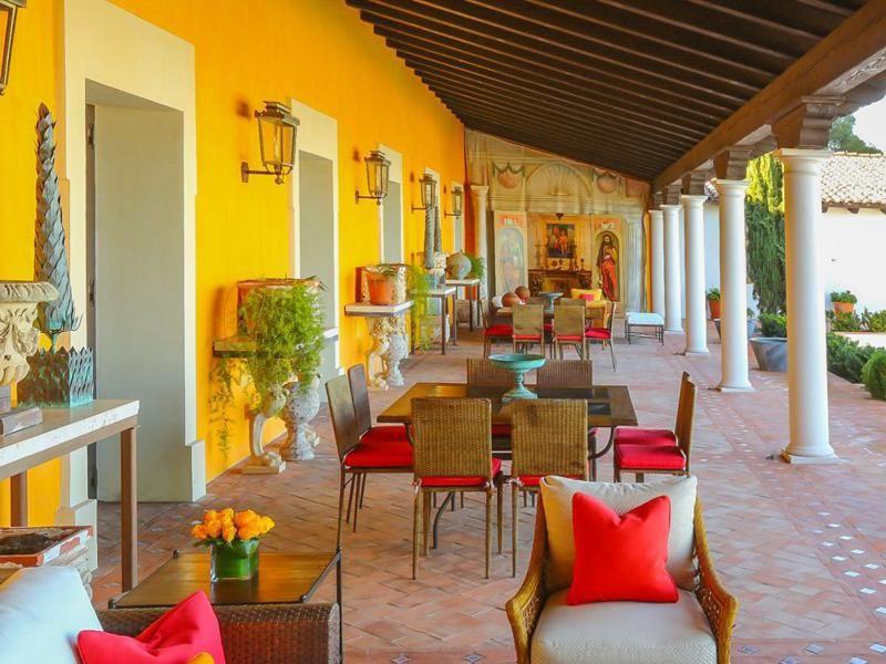 porche terraza original amueblado diseño