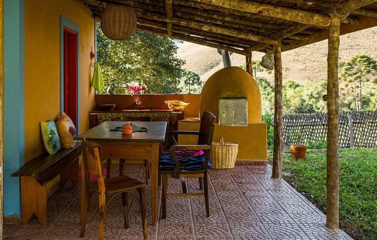 Porches jardin y terrazas cubiertas 50 dise os - Terrazas rusticas ...