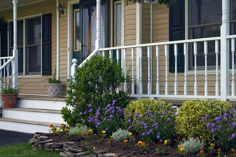 porches entrada casa moderna plantas jardin ideas