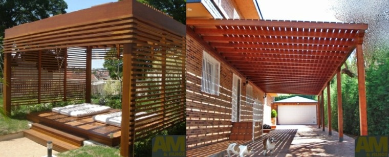 porches pergolas madera natural