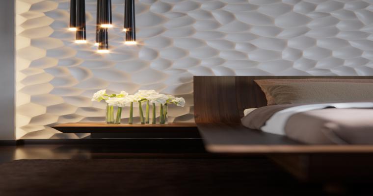 estupendo diseño pared dormitorio
