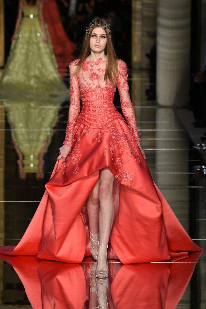 vestido rojo zuhair murad