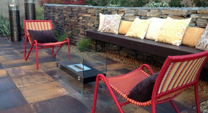rojos sillones paredes retazos ideas