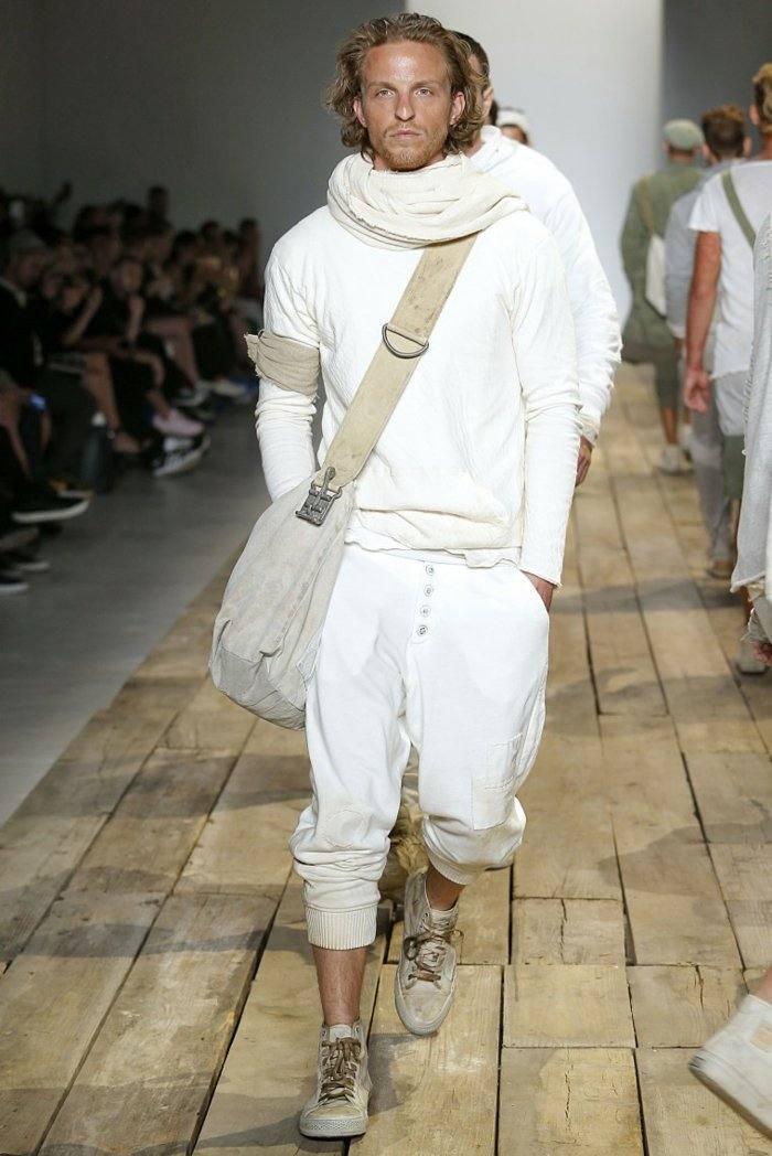 ropa de hombre disenos modelos pasarela temporada 2016 color blanco ideas