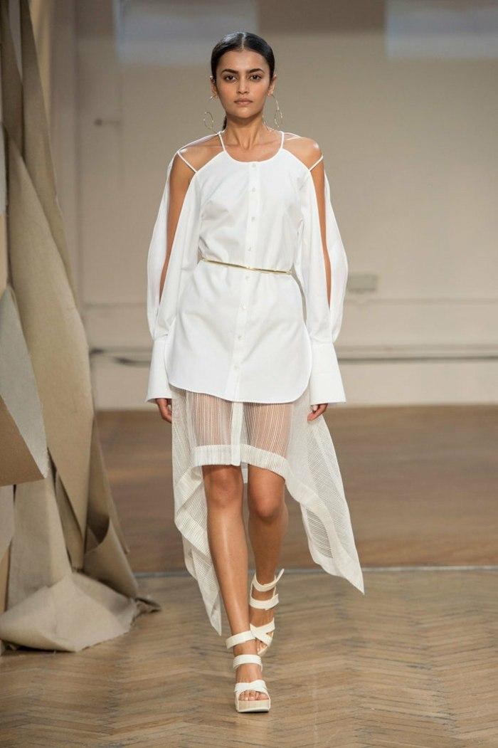 ropa de mujer semana moda Londres blanco ideas