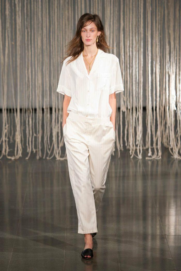 ropa de mujer semana moda Londres camisa masculina blanca ideas