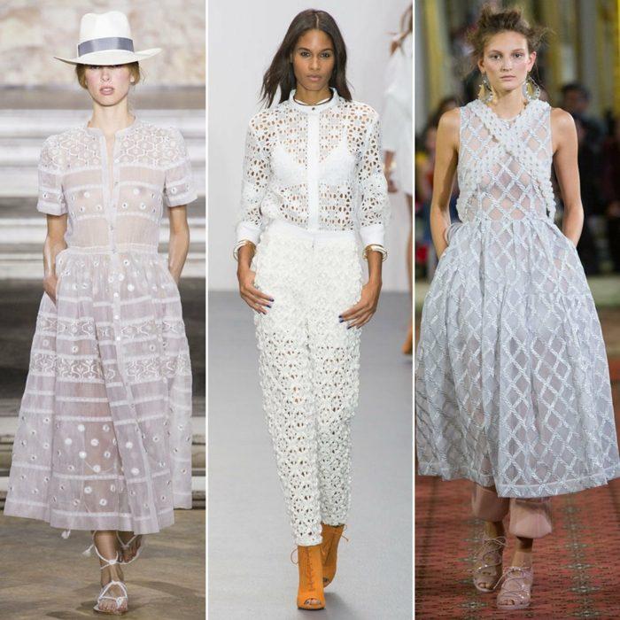 ropa de mujer semana moda Londres lijeros vestidos ideas