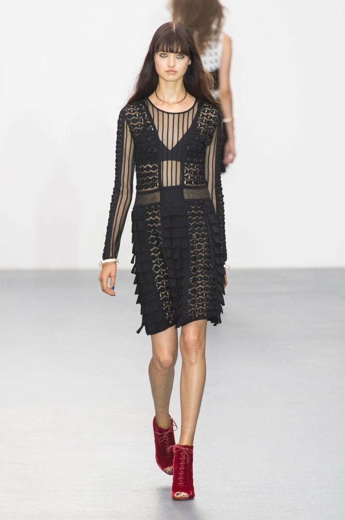 ropa de mujer semana moda Londres vestido corto negro ideas