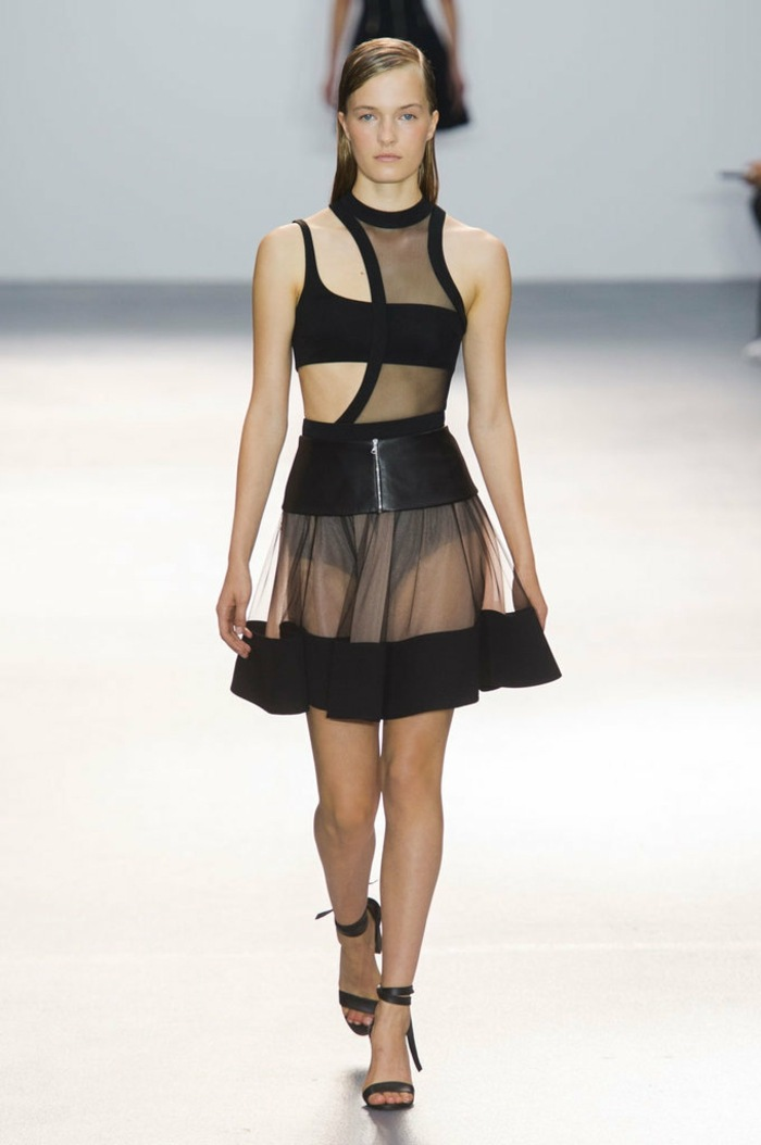 ropa de mujer semana moda Londres vestido negro ideas