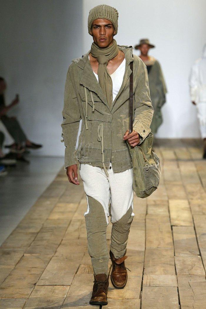 ropa diseno Greg Lauren coleccion estilo militar ideas