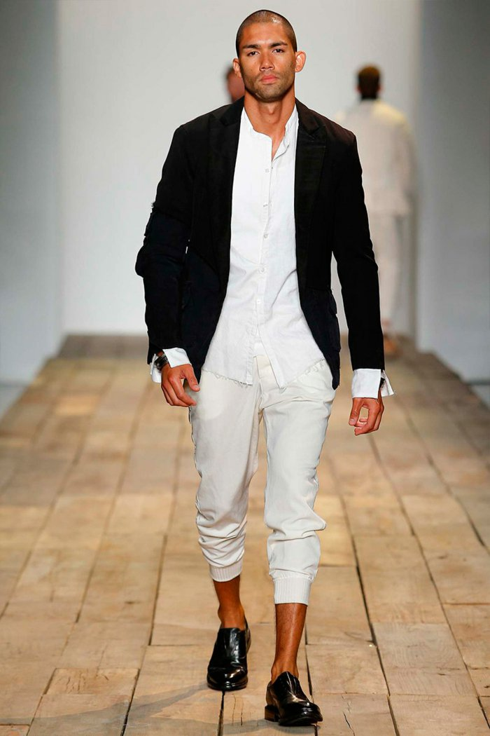 ropa diseno Greg Lauren hombre negro blanco ideas
