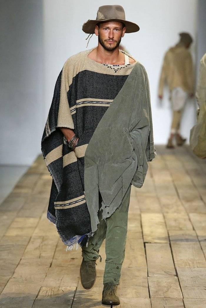 ropa diseno Greg Lauren poncho estilo safari ideas