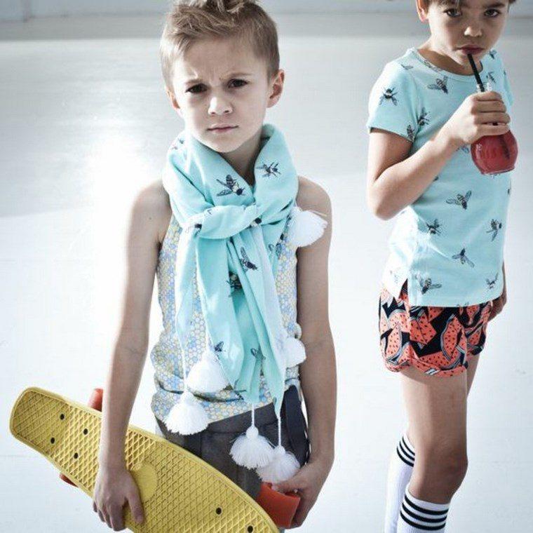 ropa infantil tendencias 2016 bufanda chicos ideas