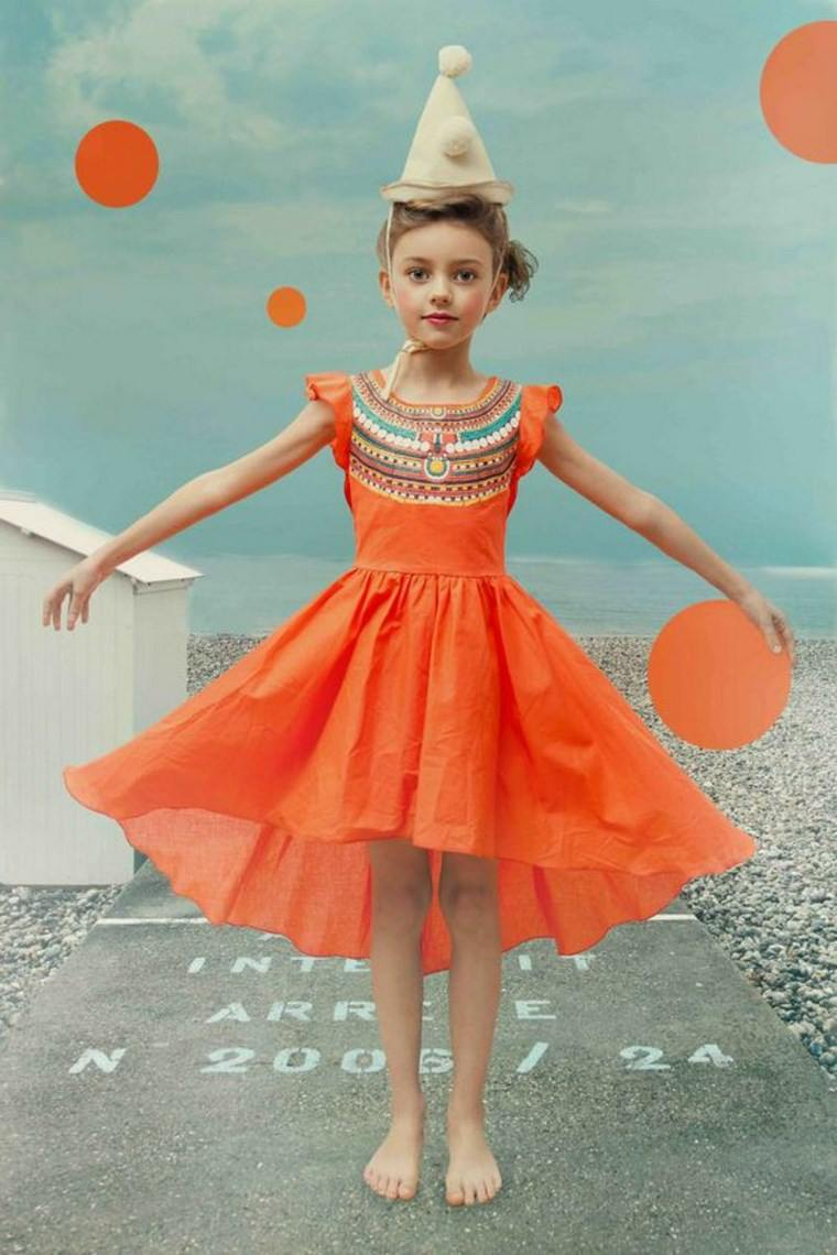 ropa infantil tendencias 2016 color naranja ideas