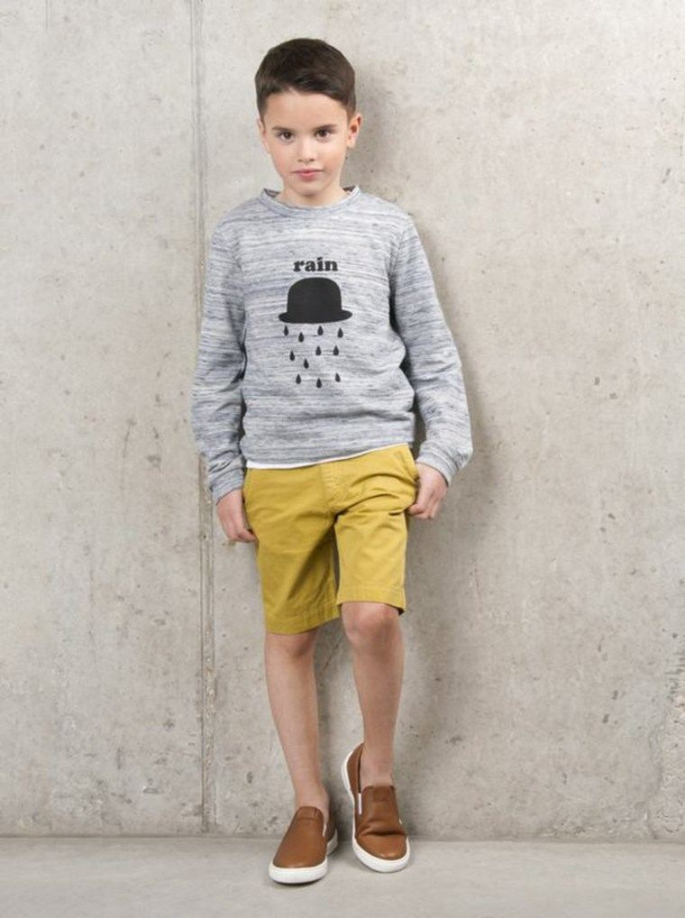 ropa infantil tendencias 2016 pantalon amarillo ideas