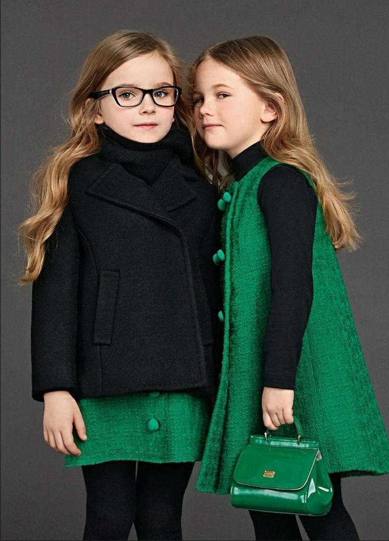 ropa infantil tendencias 2016 verde negro ideas