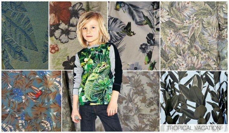 ropa ninos tendencias 2016 inspirada disenos tropicales ideas